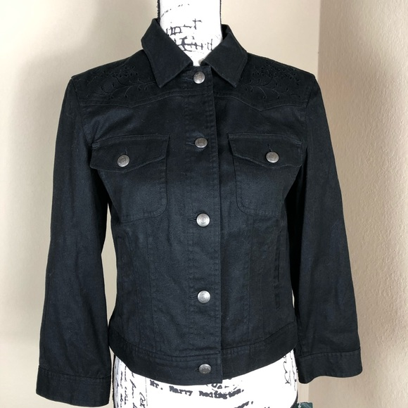 unbeatable price online sale 50% off Lauren Ralph Lauren Black Linen Jean Jacket NWT S NWT